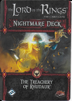 The Lord of the Rings: The Card Game - Nightmare Deck: The Treachery of Rhudaur board game