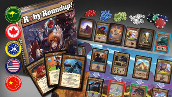 Ruby Roundup board game