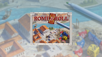 Rome & Roll: A roll and write eurogame board game