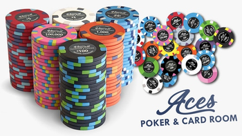 Aces | Ceramic Poker Chips with High-End Designs board game