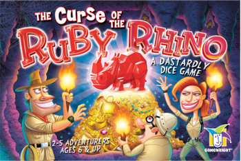 The Curse of the Ruby Rhino board game