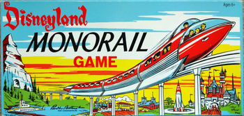 Disneyland Monorail Game board game