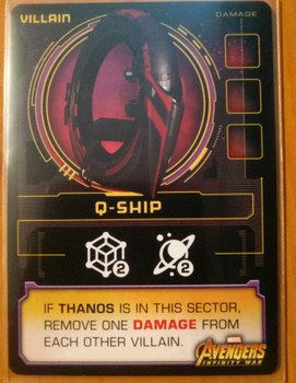 Thanos Rising: Avengers Infinity War – Q-Ship Promo Card board game