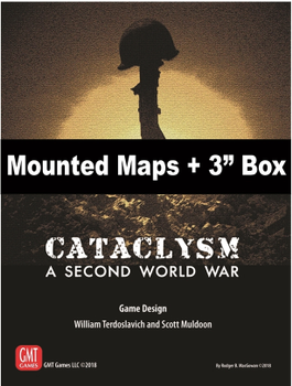 """Cataclysm Mounted Maps and 3"""" Box board game"""