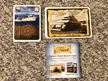 Fleet: Captain's Club & Research Vessel board game