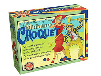 Miniature Table Croquet board game