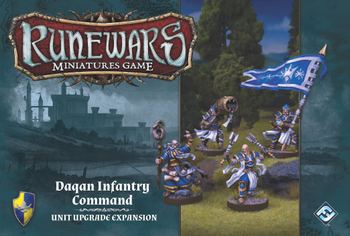 Runewars Miniatures Game: Daqan Infantry Command – Unit Upgrade Expansion board game