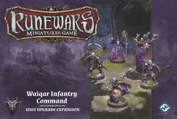 Runewars Miniatures Game: Waiqar Infantry Command – Unit Upgrade Expansion board game