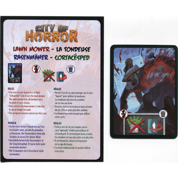 City of Horror: Lawn Mower Promo Card board game