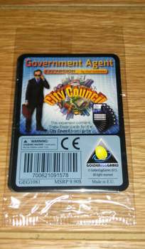 City Council: Government Agent Expansion board game