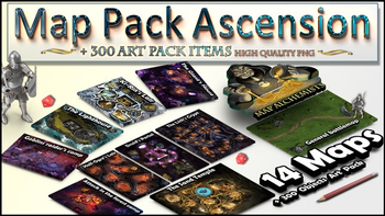 RPG Map Pack and Art Pack 14 Maps + 300+ arts :The Ascension board game