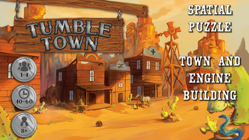 Tumble Town: the Dice Stacking Spatial Puzzle Game board game