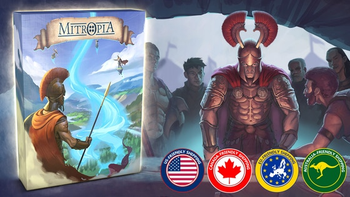 Mitropia: The Mythical Game of Surrounding board game