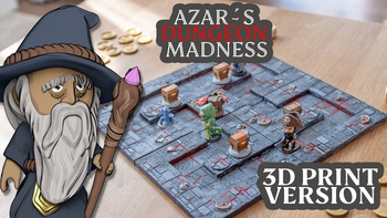 Azar's Dungeon Madness board game