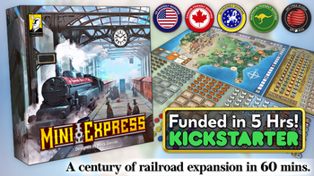 Mini Express 🚂 A century of railroad expansion in 60 mins⏱️ board game