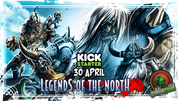 LEGENDS OF THE NORTH, Norse fantasy football team v2.0 board game