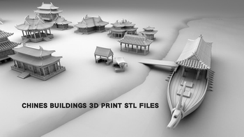 Chinese buildings board game